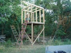 ... easily build a 2 man white tail deer tower blind in high definition