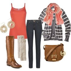 Not sure about the gray cardigan with it but I like the rest of this!