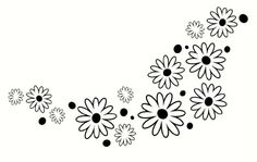 """Flowers and Dots Floral Wall Vinyl Sticker Decals Set 28 pc Package 10"""" - 1"""" - Black - http://decorwalldecals.com/flowers-and-dots-floral-wall-vinyl-sticker-decals-set-28-pc-package-10-1-black/"""