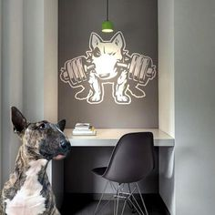 Dog Decal Bull Terrier Fitness Vinyl Sticker Decal by PSIAKREW