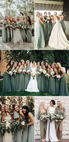 Trend sage green bridesmaid dress ideas for 2018 and 2019 - # bridesmaid . Trend sage green bridesmaid dress ideas for 2018 and 2019 – # Bridesmaids Country Bridesmaid Dresses, Bridesmaid Dresses Sage Green, Bridesmaid Ideas, Fall Wedding Bridesmaids, Bridesmaid Dresses 2018, Burgundy Bridesmaid, Bridesmaid Dress Colors, Country Dresses, Wedding Inspiration