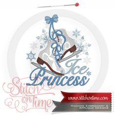 14 Ice Skate : Ice Princess Applique