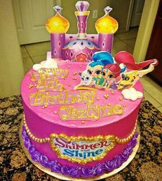 Shimmer and shine buttercream cake!