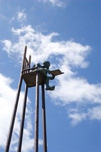 Henry Lay Sculpture Park, Louisiana, MO. Don't forget to check out the art galleries in Louisiana!