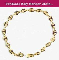 """Tendenze Italy Mariner Chain Bracelet, Gold Double 10/000, 5.5mm, Length 17cm/6.7"""", Directly From The Italian Factory. Mariner Chain Bracelet, gold double 10/000, 6 x diamand cut, high gloss finished, the original italian Mariner chain, protected against tarnish finest jeweller quality In contrast to normal gold-plated jewelry is gold double 10/000 a double-metal, with a thick and inseparably welded gold to a metal surface (brass), so that both metals are inseparably connected with each..."""