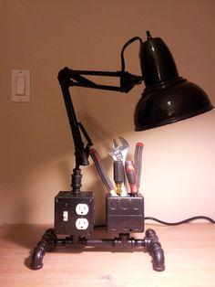Articulating Industrial Work Pipe Light U2013 Home Decor Ideas