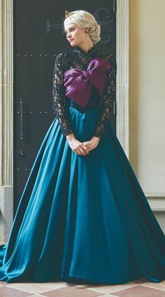 Elegant Frozen A-line Lace Long sleeves Satin Prom Dress Formal Dress Disney Wedding Dresses, Disney Princess Dresses, Disney Dresses, Cheap Wedding Dress, Prom Dresses, Formal Dresses, Disney Princess Cosplay, Disney Weddings, Fairytale Weddings