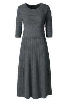 Women's Elbow Sleeve Sweater Dress from Lands' End