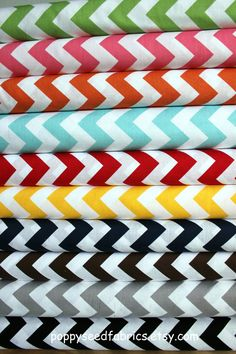 Chevron fabric, buy by the bundle - half yard of 10 colors for $50 - would make such a cute quilt!