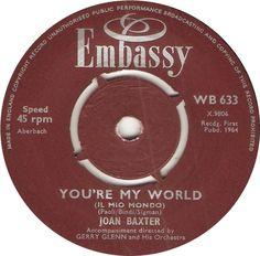 WB 633. You're My World (Il Mio Mondo). Joan Baxter.