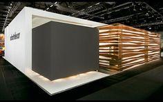 Clean and simple exhibit booth design. #tradeshow #exhibitdesign #eventprofs