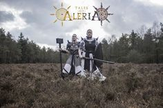 "Tales of Aleria - A Rise of Shadows ""Protector and Battlepriest"" PHOTOGRAPHY: Roy Verver (viddesign.nl) STYLING: D-Zyre HMUA: D-Zyre MODELS: Erica Braam & Maarten Harms"