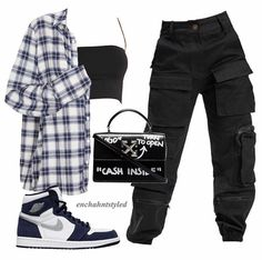 Baddie Outfits Casual, Cute Swag Outfits, Cute Comfy Outfits, Grunge Outfits, Stylish Outfits, Polyvore Outfits Casual, Summer Swag Outfits, Simple Outfits, Tomboy Fashion