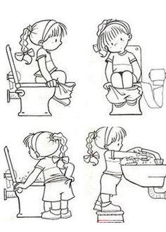 Okul Öncesi Tuvalet Eğitimi Boyama Sayfaları - Okul Öncesi Etkinlik Faaliyetleri - Madamteacher.com