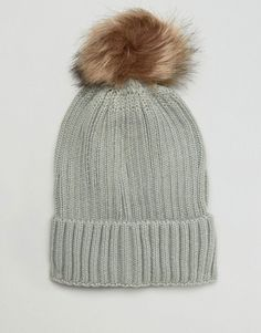 b787deae868 7X Beanie Hat With Fur Pom Pom