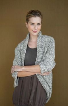 DIY Speckled Shrug: Free knitting pattern!