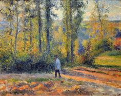 All sizes | Camille Pissarro - Paysage a Pontoise avec un Chasseur, 1879 at the Legion of Honor (Fine Arts Museums of San Francisco CA) | Fl...