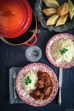 Estofado sefardí de ternera con arroz pilaf