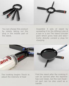 Clasp Burner Portable Burner Concept