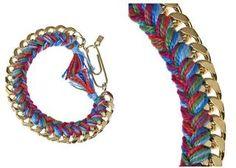 DIY Jewelry DIY Necklace : DIY Braided Chain Bracelet