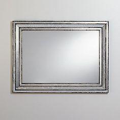 powder room | Volterra Antique Mirror | World Market $200