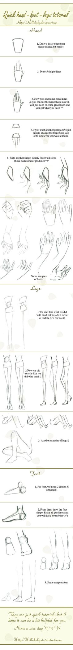 basic how-to draw hands, legs, and feet -- Where was this years ago when I was developing my drawing skills?? Can draw amazing faces, but can't draw a hand to save my life...