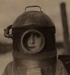 The latest in 1910's-era diving gear via Pearl of the Army (1916, dir. Edward José)