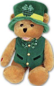 Shamrock Bear from Chantilly Lane Singing Animated Gifts /PBC - he sings... for all those Irish eyes that are smiling!