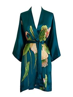 Best Seller KIM + ONO Women s Silk Kimono Short Robe - Handpainted online 1d7069b53