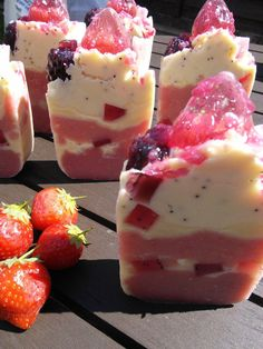 Berry Vanilla Soap  Vegan Artisan soap by Bohemiq on Etsy, £4.25