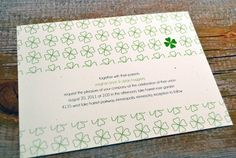 PRINTABLE  MODERN IRISH Wedding Invitation Set   by IzzyBshop, $20.00