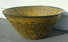 Large Hanova of Pasadena California Mid Century Modern Lava Enamel Bowl. I love this bowl it's beautiful.