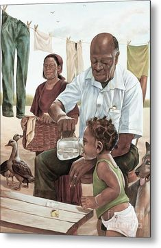 African American Father Art We Adore Father's day is right around the corner. A Black Southern Belle is raised to be a Daddy's girl. He spoils her and protects her and contributes to her high standards in life and teaches and… Black Art Painting, Black Artwork, Time Painting, Black Love Art, Black Girl Art, African American Artwork, Arte Black, Wal Art, Afrique Art