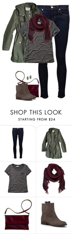 """""""Oxblood, gray & army green"""" by steffiestaffie ❤ liked on Polyvore featuring J Brand, Cheap Monday, Abercrombie & Fitch, Ulla Johnson, Sole Society and Kendra Scott"""