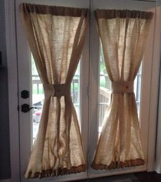 burlap window treatments Burlap Sheers French Door Drapes Burlap Curtains French Country Window Treatment Burlap Panel Lined Burlap Drapes Custom Made to Order This listing is Door Panel Curtains, French Door Curtains, Country Curtains, Kitchen Curtains, Drapes Curtains, Bathroom Curtains, Cheap Curtains, Purple Curtains, Luxury Curtains