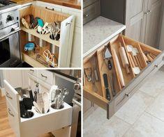 9+1 elképesztően praktikus és gyönyörű konyhafiók - Konyhatrend Kitchen Dining, Dining Room, Shoe Rack, Home Kitchens, Organization, Cabinet, Storage, House, Furniture
