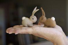 Felt bunnies-I'm in love!