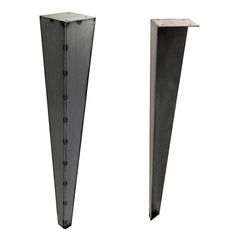 Steel Coffee Table or Bench Tapered Table Legs Under-Mount for Industrial Look Steel Table Legs, Steel Dining Table, Steel Coffee Table, Dining Table Legs, Bench Legs, Steel Plate, End Tables, Metal Working, Furniture