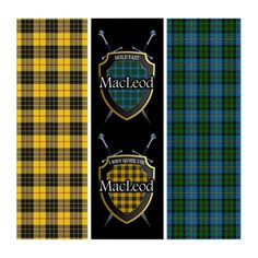 Shop Clan MacLeod Two in One Tartan Shield & Swords Triptych created by OldScottishMountain. Personalize it with photos & text or purchase as is! Scottish Names, Scottish Clans, Scottish Clan Tartans, Macleod Tartan, Clan Macleod, Tartan Kilt, Tartan Dress, Flag Of Europe, Triptych Wall Art