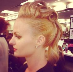 Pomp up your weekend with this fantastic updo look by Blanche Macdonald Pro Hair student Arian Macaulay <3