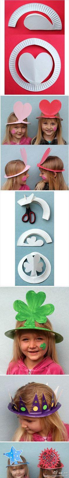 Diy cute paper plate hats | DIY & Crafts Tutorials