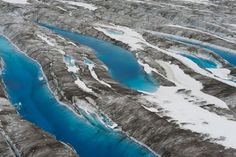 Blue Glacial Pools in Kluane National Park, Yukon Territory, Canada