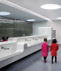 Royal Ontario Museum bathroom by Superkul Lavatory Design, Washroom Design, Toilet Design, Bathroom Interior Design, Office Bathroom, Bathroom Kids, Scandinavian Interior Design, Best Interior Design, Wc Public