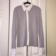 Anne Fontaine Paris cotton button up blouse Size 42. Like new. Soft cotton with crisp cotton white blouse properties (collar, cuffs, buttoning) Anne fontaine Tops Blouses