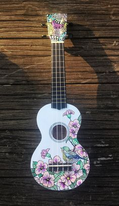the designer in one piece - 😳 blushing and violin 🎻- la dessinatrice dans one piece – 😳 rougissement et violon 🎻 akatsuki Manami is a young … - Ukulele Art, Ukulele Songs, Ukulele Chords, Guitar Art, Ukulele Drawing, Akatsuki, Guitar Decorations, Painted Ukulele, Painted Guitars