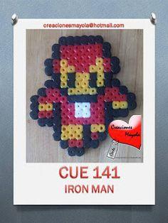 Creaciones Mayola: IRON MAN, SUPER HEROE, HAMA BEAD.
