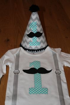 Mustache birthday party shirt and hat mustache by TooTooCuteBoutiq