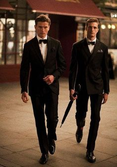 Hackett London Black Groom Suits ♥ Special Design Groom Suits