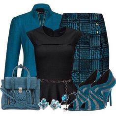 """""""Pencil Skirt & Peplum Top Contest"""" by eula-eldridge-tollive… – Shirt Types Classy Outfits, Stylish Outfits, Jw Mode, Work Fashion, Fashion Looks, Mode Rockabilly, Mode Outfits, Look Chic, Work Attire"""