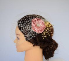 Wedding Veil Birdcage Veil Bridal Headpiece Wedding